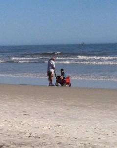 Rush hour on Neptune Beach