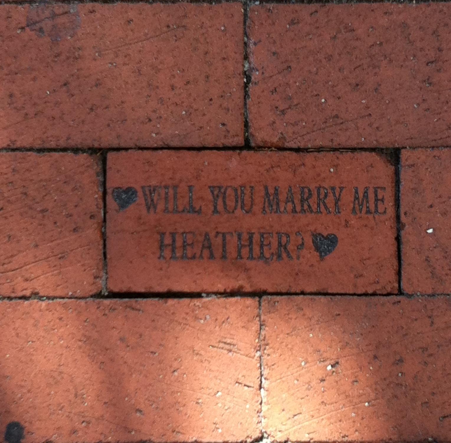 Sun baked brick walkway