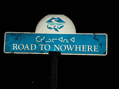 070108 Road to Nowhere sign