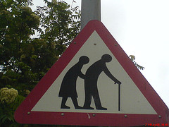 Caution Elderly Crossing