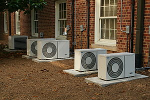 Series of air conditioners at UNC-CH.