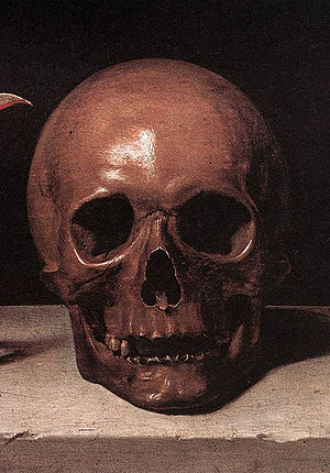 The symbolic face of death:  detail from an 18...