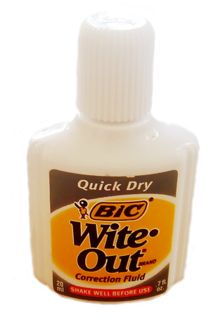 A standard bottle of Wite-Out