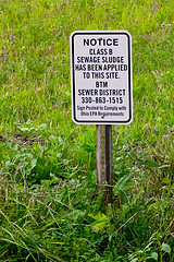 Class B Sewer Sludge Sign