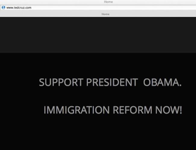 Ted Cruz Epic Website Fail