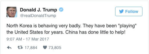 Trump Disses China